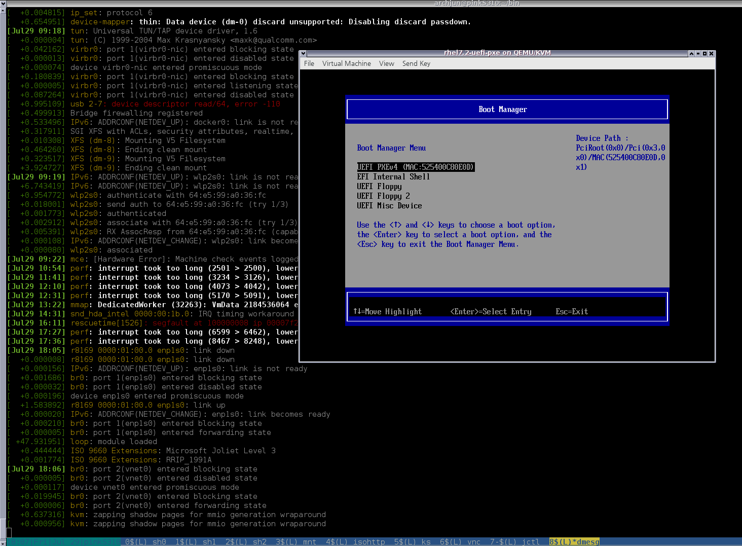 Jun's Pocket Plane: Enable PXE netboot in KVM guests for testing UEFI