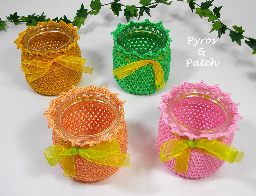 Pyros patch nuovi cachepot crochet - Porta pout pourri ...