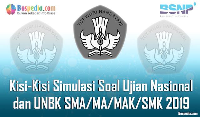 Kesempatan kali ini admin ingin berbagi soal UN dan UNBK terkhusus untuk Lengkap - Kisi-Kisi Simulasi Soal Ujian Nasional (UN) dan UNBK SMA/MA/MAK/SMK 2019