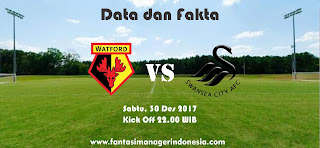 Data dan Fakta Fantasy Premier League Watford vs Swansea Fantasi Manager Indonesia