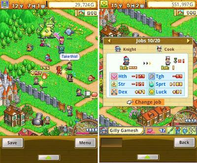 Tampilan Game Dungeon Village
