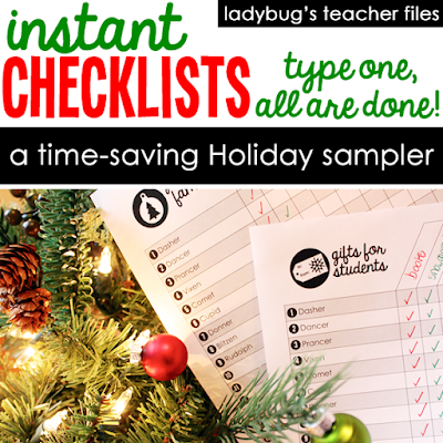 https://www.teacherspayteachers.com/Product/Instant-Checklists-Holiday-Sampler-2181752