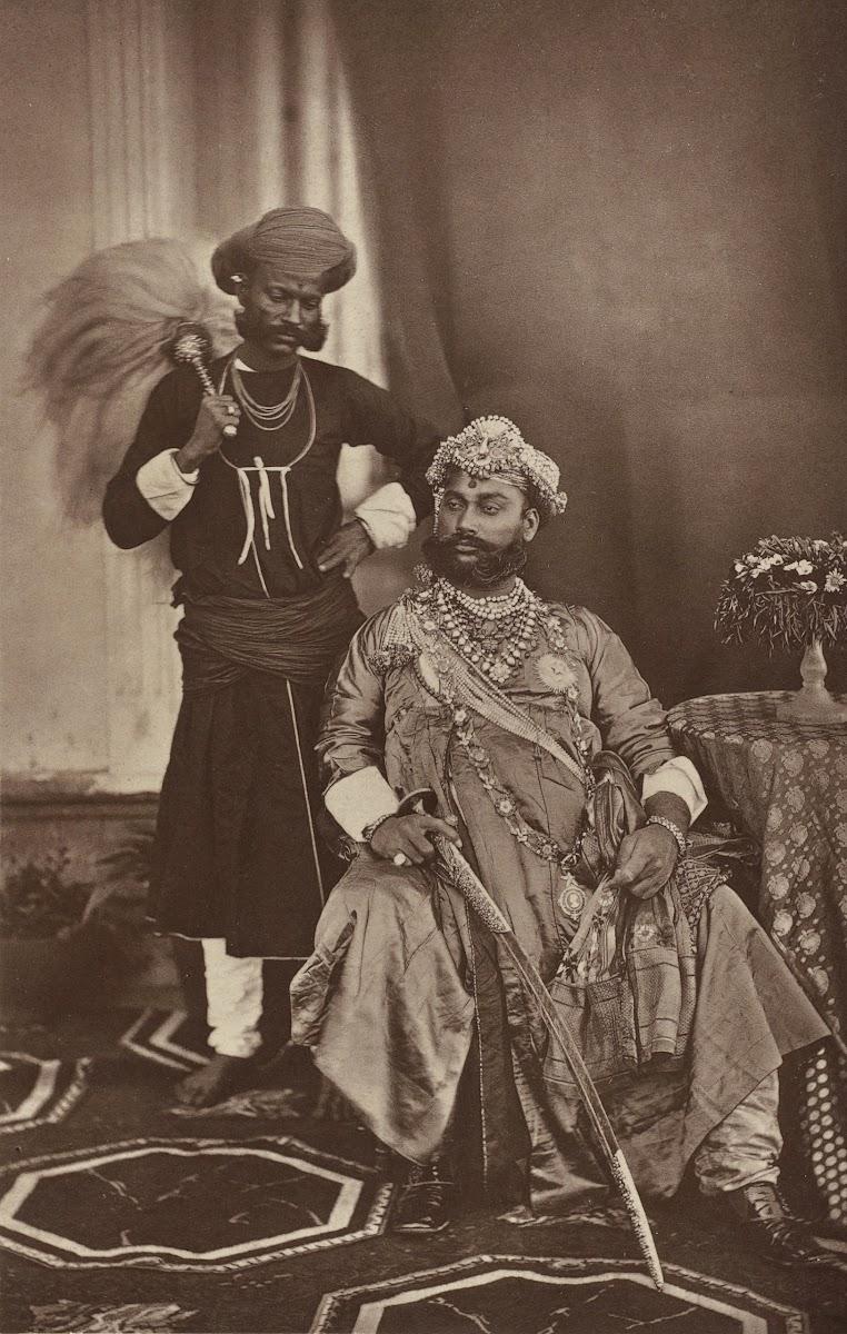 The Maharaja of Indore Tukojirao Holkar II at the Delhi Darbar of 1877