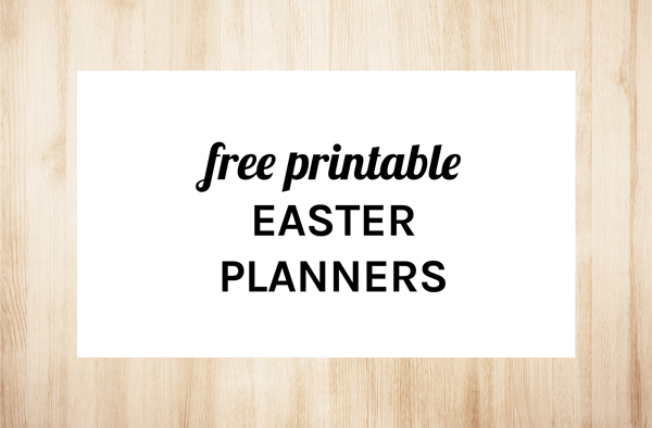 Free Printable Easter Planners by Eliza Ellis including recipes, gifts, shopping list, to-do list, notes, baking and dinner planner.