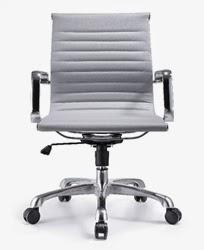 Gray Leather Joplin Chair