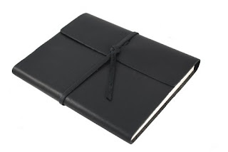 rustico leather bound little black notebook