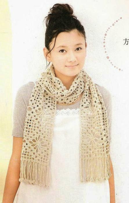 Estola al crochet - con patrones