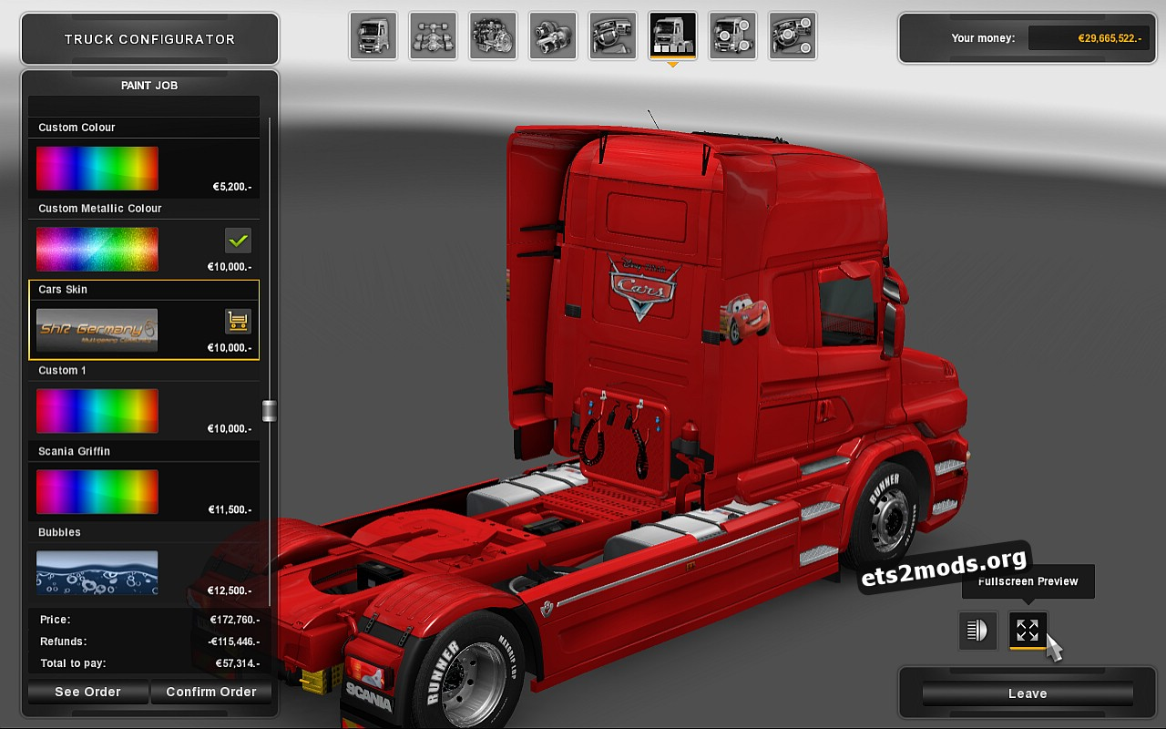 Cars Skin for Scania T