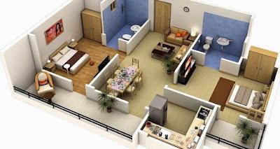 Gambar Desain Interior Rumah Tipe 36 Tanah 60 M2 Sederhana Minimalis