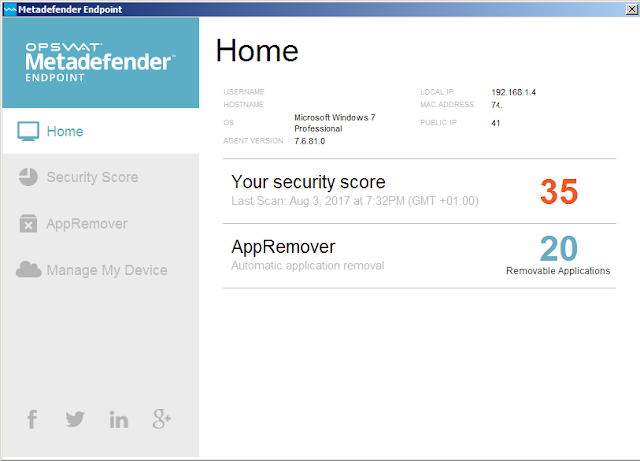 برنامج Metadefender Endpoint لتعرف قوة الحماية على الحواسيب والهواتف