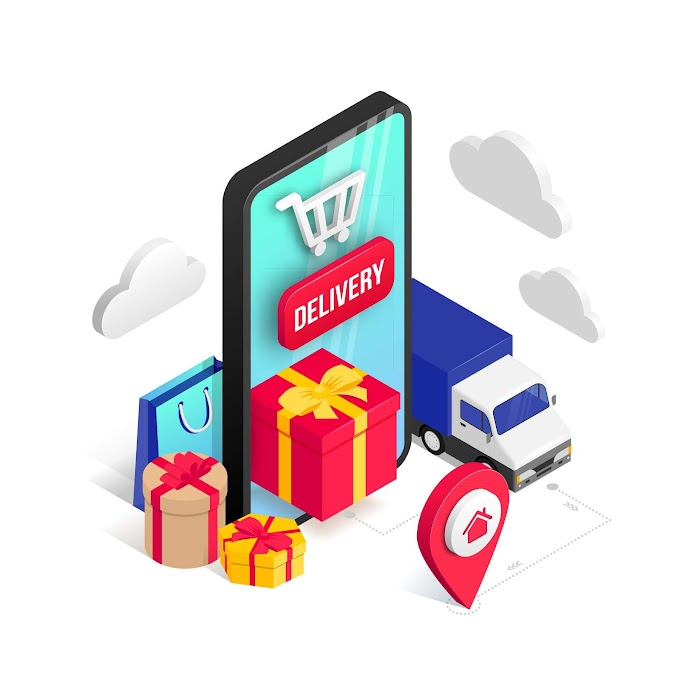 Holiday mobile shopping online free vector icon
