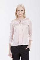 Bluza roz din satin