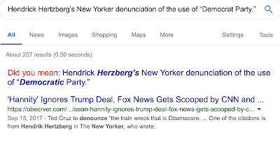 Is Google programmed to teach us not to write  Democrat Party ?!