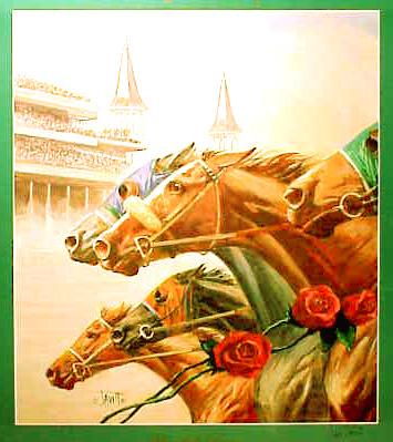 Sam Savitt 1991 horse Kentucky Derby poster