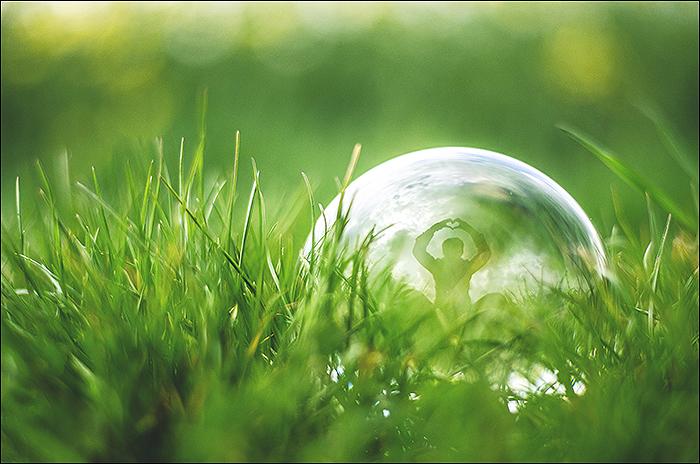 Fotografie-Glaskugel-Spiegelung