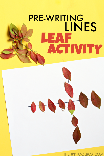 Pre-Writing Activity Leaf Theme