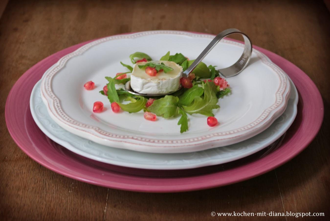 Ziegenkäse mit Granatapfel