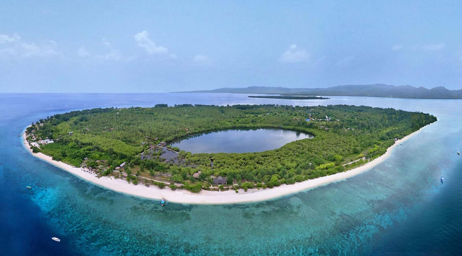Pulau di Gili Trawangan yang indah dan manis