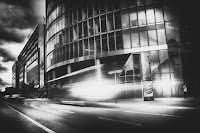 Potsdamer Platz Berlin black white street photography