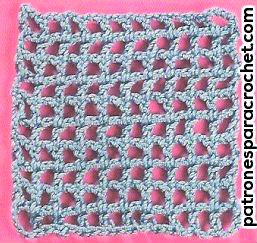 red de base para tejer wiggly crochet