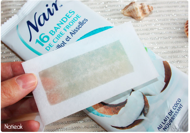 bandes de cire froide Au lait de coco nourrissant Nair