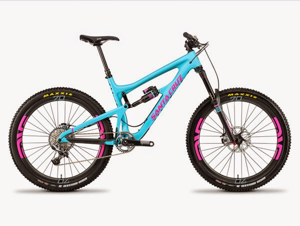 2014 Santa Cruz Nomad Carbon blue and pink
