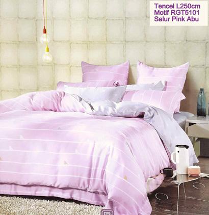 Sprei Tencel Motif Pink Abu