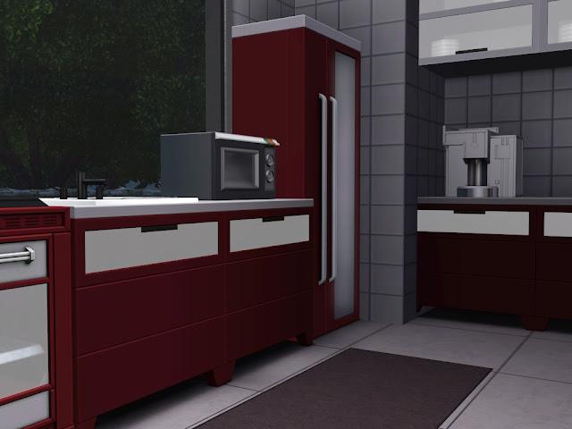 cuisine rouge sims 3