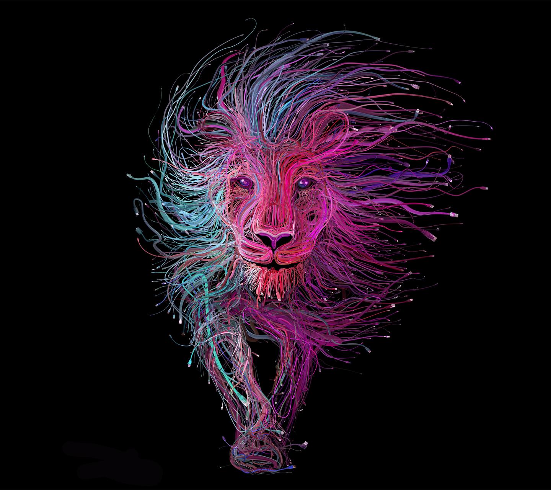 fond d'écran stylé lion
