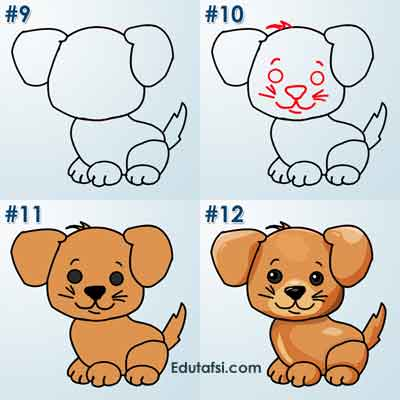 Cara mudah menggambar anjing untuk pemula