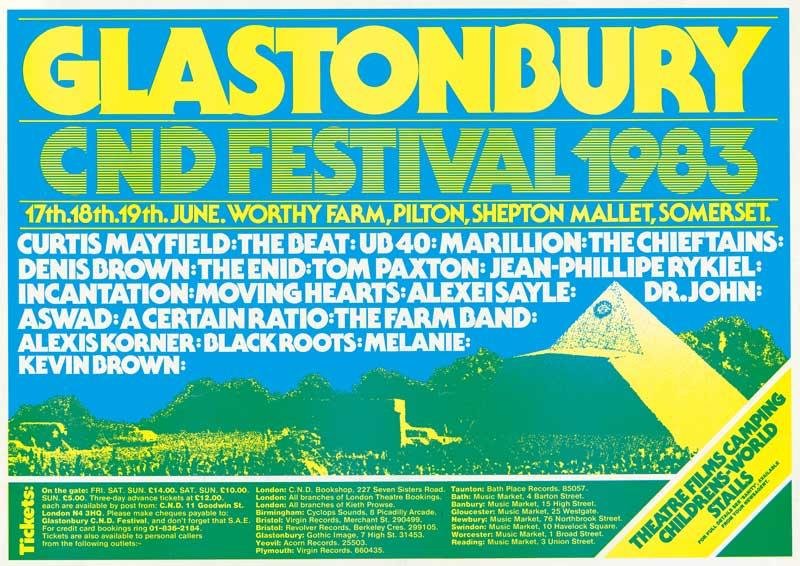 18 Jun 1983, Glastonbury Festival, Worthy Farm, Pilton, Somerset