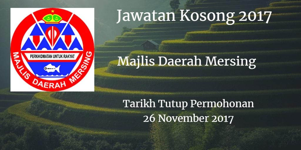 Majlis Daerah Mersing Jawatan Kosong MdMersing 26 November 2017