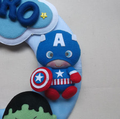 Capitão América baby em feltro