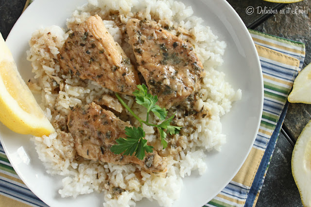 Slow Cooker Lemon Chicken {Low-FODMAP}  /  Delicious as it Looks