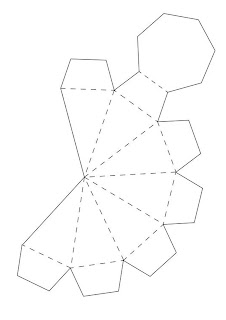 Paper diamond free template