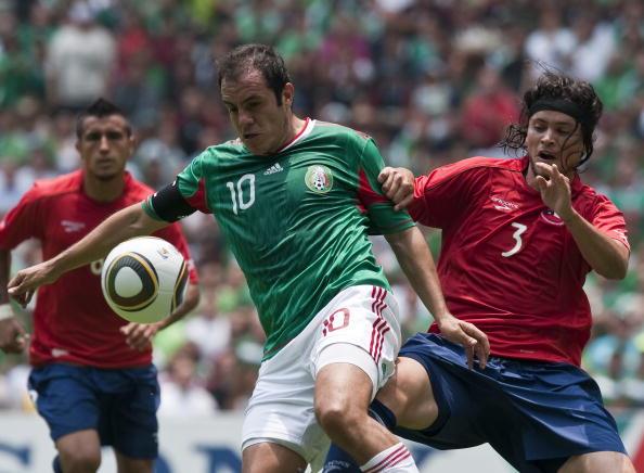 México y Chile en partido amistoso, 16 de mayo de 2010
