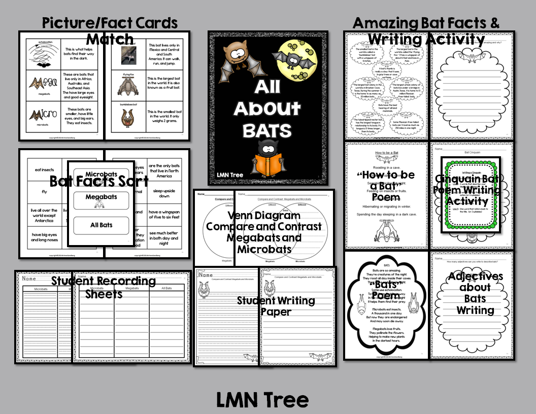 Lmn Tree All About Bats Free Resources Books And