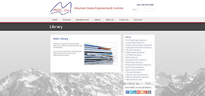 Screen shot of Mountain States Engineering Library Page