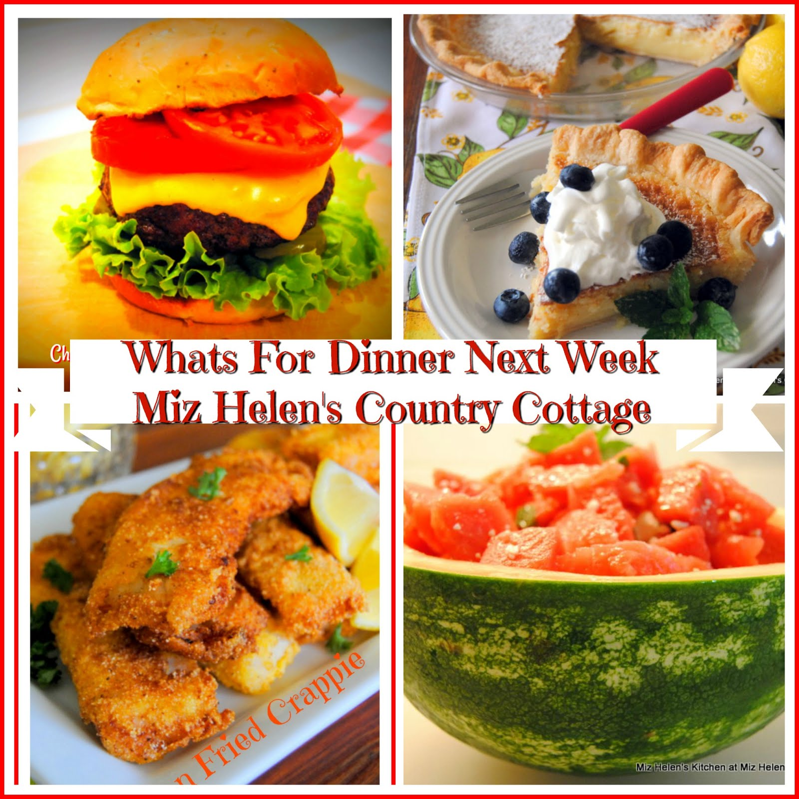 Whats For Dinner Next Week * Week of 6-16-19