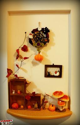 ニッチのハロウィン飾り