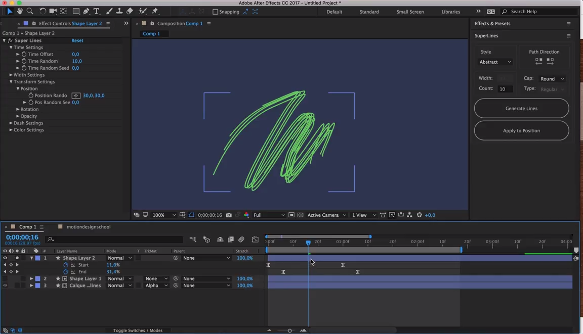 Working with Super Lines In After Effects | CG TUTORIAL