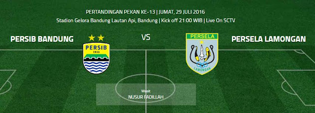 Persib vs Persela di Stadion GBLA Jumat 29 Juli 2016