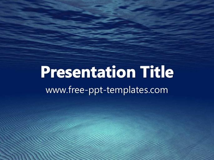 Underwater ppt template toneelgroepblik Images