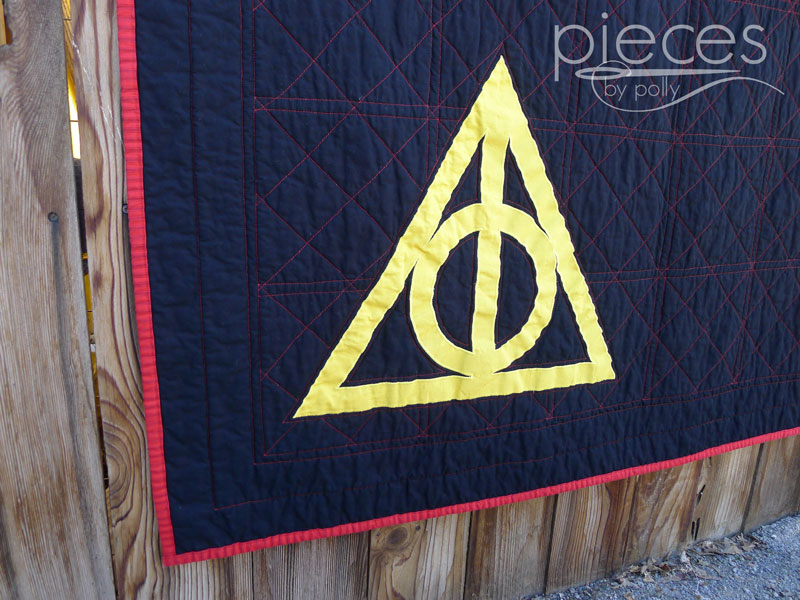 Pieces by polly deathly hallows gryffindor quilt harry potter