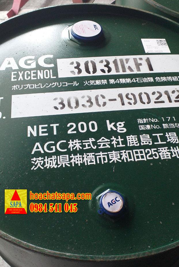 DUNG MÔI EXCENOL 3031 KF1 - POLYPROPYLENE GLYCOL (PPG)