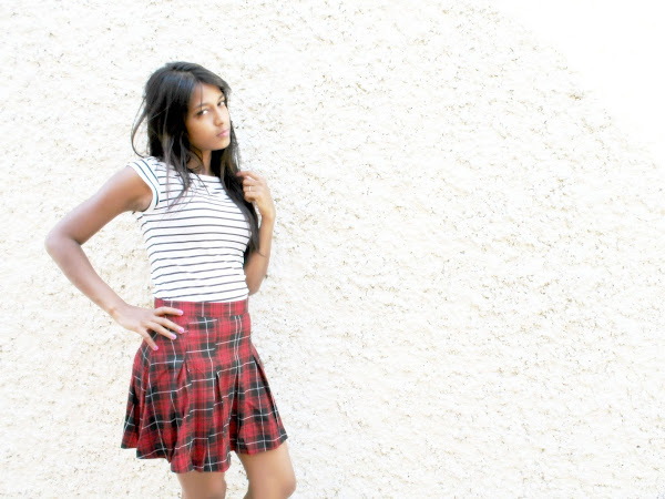 Pleated school girl skirt