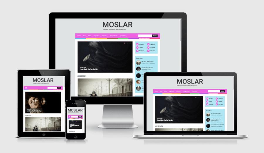 moslar blogger template - responsive blogger template