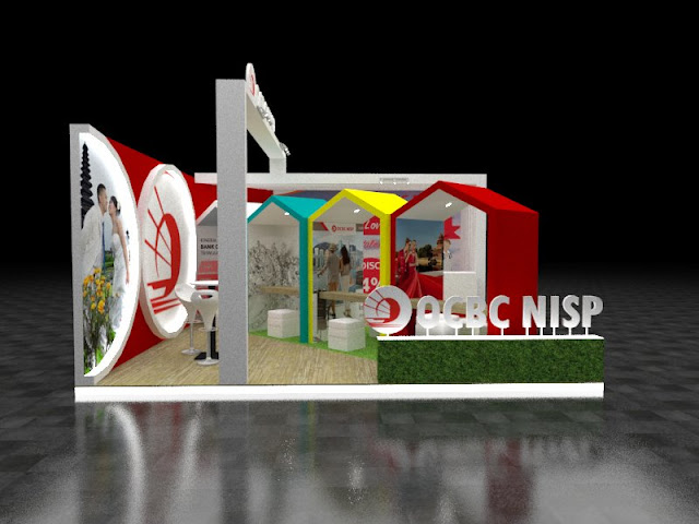 Desain Booth Pameran OCBC NISP