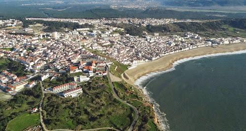 foto aérea de Nazare - Portugal