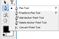 adobe pen tool for cropping or selecting an area